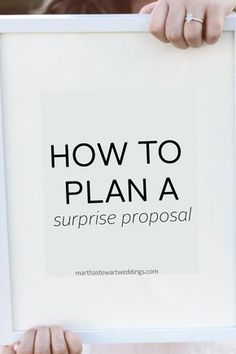 How to Plan a Proposal She Won't Expect How do you pull off a surprise proposal without your lady suspecting a thing? It can be tricky, but we're here to help. Surprise Proposal Pictures, Suprise Proposal, Suprise Wedding, Cute Proposal Ideas, Beach Proposal, Romantic Proposal, Proposal Photos, Perfect Proposal, Romantic Weddings