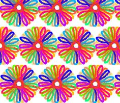 Abstract Flower fabric by angelandspot on Spoonflower - custom fabric