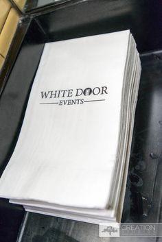 Branded Napkins, White Door Events