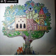 Floresta encantada/ jardim secreto Casa na árvore