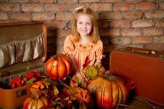 """Pumpkin Time"" Portrait Creations Professional Children's pics in Charlotte, NC."
