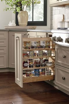 The Base Can Storage Cabinet, offered in a wide variety of widths, is the ultimate solution for organizing cans of all shapes and sizes in a slim space. Storage Cabinet With Drawers, Ikea Storage Cabinets, Kitchen Cabinet Storage, Kitchen Cabinets, Bathroom Storage, Kitchen And Bath Showroom, Buy Kitchen, Kitchen Interior, Kitchen Design