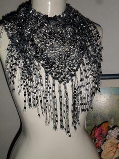 xale mosaico artes da iris www.facebook.com/artesdairis
