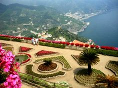 View of the Amalfi Coast from the Villa Ruffolo Garden, Ravello, Italy