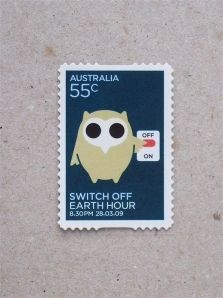Australia  Earth Hour 2009 | postage stamp