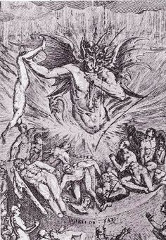 The Last Judgment full page woodcut, 14.5 x 9.5 cm. From ARS MORIENDI , and perhaps printed by Stucks in Nurenburg c1490