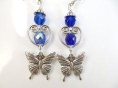 Beautiful butterfly earrings by jewelryandmorebykat on Etsy