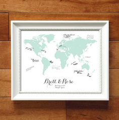 Destination Wedding Guest Book Alternative 16x20 by RigbyAndFable, $32.00