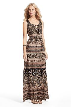 SPRING SALE! Enjoy an additional 50% off sale prices! Silk printed maxi dress