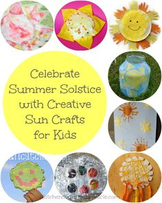 Celebrate Summer Solstice with Sun Crafts for Kids - ring in the arrival of summer with these creative sun crafts and activities for kids.