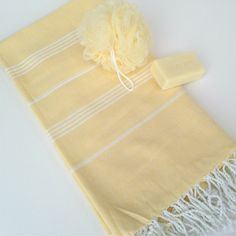 Fair Trade Yellow Peshtemal Bath Towel, Hammam, Beach, Travel, Scarf,  Sarong, Swimsuit Wrap, Tablecloth by TheFairLine on Etsy