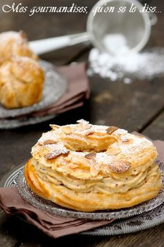 Paris-Brest was my favourite childhood birthday cake of all time xx. Desserts Français, Dessert Recipes, Cheesecakes, Paris Food, Sweet Pastries, French Pastries, Let Them Eat Cake, Food Inspiration, Baked Goods