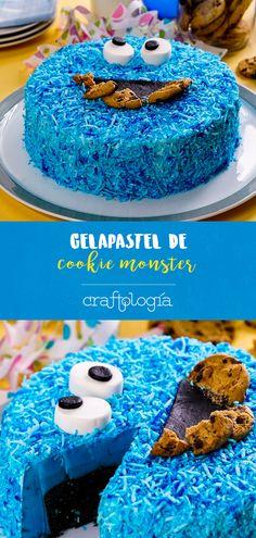 Este Gelapastel de Cookie Monster es el postre perfecto para tu fiesta de Monstruo Come Galletas. Si quieres organizar una fiesta divertida y original, esta combinación de pastel con gelatina no puede faltar. Lo mejor es que es muy fácil de hacer. Cake Cookies, Cupcake Cakes, Birthday Parties, Birthday Cake, Cake Art, Deli, Cake Decorating, Sweets, Baking