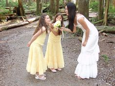 Yellow Swiss Dot Flower Girl Dresses matching 2 piece halter style top with tiered ruffled ankle length skirt