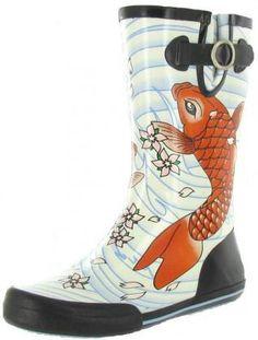 Chooka Tattoo Koi Rain Boots