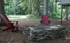 our homemade firepit from all repurposed materials, outdoor living, Our firepit