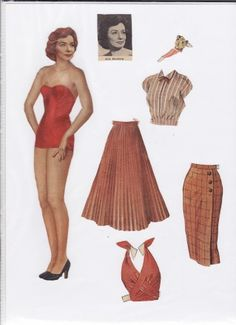 Danish paper doll of Lily Broberg, Danish actress / dukkesiderne.dk......SET-90