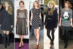 """Taylor Swift's """"street style."""" I really like the romantic feel to her outfits."""