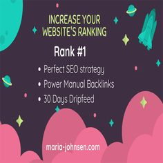 Increase Website Ranking With Maria Johnsen's New SEO Package Seo Packages, Website Ranking, Seo Strategy, Search Engine Optimization, Packaging, Wrapping
