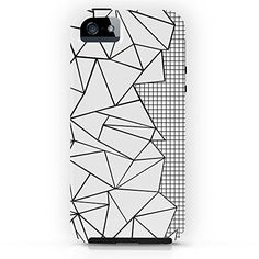 Society6 Abstraction Outline Grid On Side White Tough Case #blackandwhite…