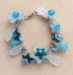 I Love Jewelry, Diy Jewelry, Jewelry Bracelets, Jewelery, Handmade Jewelry, Women Jewelry, Jewelry Making, Costume Jewelry Crafts, Acrylic Flowers