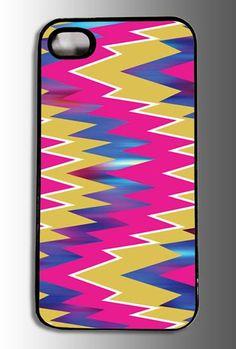 Retro Zig Zag Pattern iPhone Case