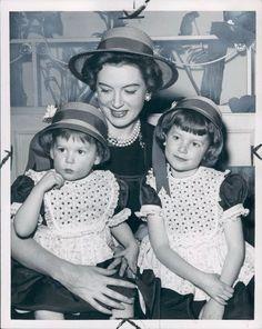 Deborah Kerr with her daughters Francesca and Melanie
