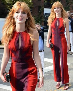 Bella Thorne at the Diane von Furstenberg show during the Mercedes-Benz Fashion Week in New York City on September 2013 Beautiful Celebrities, Gorgeous Women, Beautiful People, Bella Thorne And Zendaya, Bella Throne, Ny Fashion Week, Disney Stars, Celebrity Outfits, Redheads