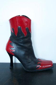 Vintage Womens Leather John Fluevog Boots sz 10 Made in Portugal. $110.00, via Etsy.