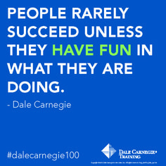 People rarely succeed unless they have fun in what they are doing.- Dale Carnegie.                Learn how to ENGAGE your employees and make them feel happy at the workplace.