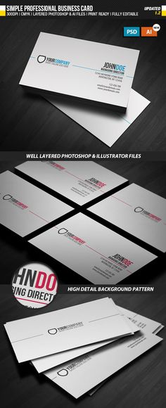 Business Card Design 26 #GraphicRiver 1 Double sided business card ...