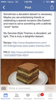 Wow Factor, Tiramisu, Delicious Desserts, Special Occasion, Recipes, Food, Recipies, Essen, Meals
