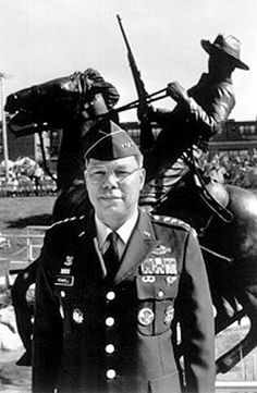 General Colin Powell - Our Leavenworth neighbor in 1967 - Here pictured on July 25,1992.  Gen. Colin Powell dedicated the Buffalo Soldiers Monument at Fort Leavenworth, Ks. Gen Powell got the idea in 1981 while jogging around Ft Leavenworth (he noticed there was little to show the Buffalo Soldiers had been there).