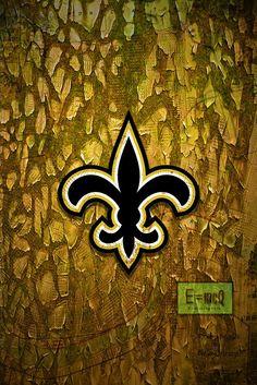 New Orleans Saints Sports Poster, New Orleans SAINTS Artwork, Saints i                      – McQDesign