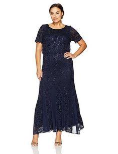 0d7d7e39f6e R M Richards Long Mother of the Bride Dress Plus Size - The Dress Outlet  Summer Formal
