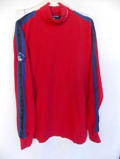 Vtg 90s Polo Sport Ralph Lauren Red Arctic Challenge Mens L Shirt Artic  #PoloSportRalphLauren #Polo