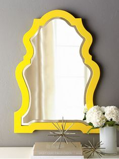 Genial Colors For The Home: Yellow And Grey (Funky Yellow Framed Mirror From  Neiman Marcus)