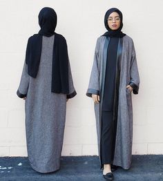 Grey and black abaya. Great for when you're feeling sophisticated and in need of comfort <3 #hijab