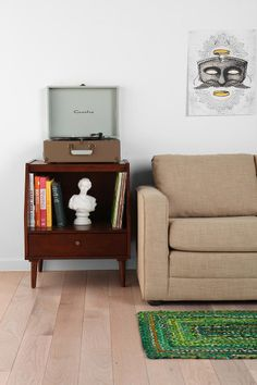 Lydia Side Table--for record player and records