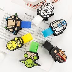 10pcs/lot New Arrival Star Wars Cartoon Headphone Earphone Cable Wire Organizer Cord Holder USB Charger