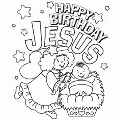 1000 images about december xmas lessons classroom ideas for Happy birthday jesus coloring pages
