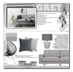 """GREY"" by andreagojkovic ❤ liked on Polyvore featuring interior, interiors, interior design, home, home decor, interior decorating, Innit, Dot & Bo, Elvang and modern"