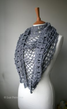 Crochet patterns, Summer Evening shawl crochet pattern (146)