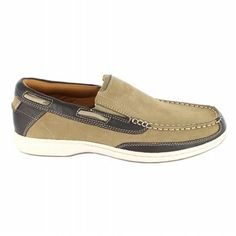 Florsheim Lakeside Slip Shoes (Sand Nubuck/Brown) - Men's Shoes - M