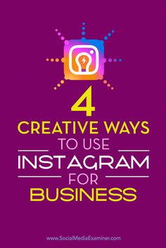 Is your business using Instagram?  By making the most of Instagram's unique features, you can stand out from the crowd and leave a lasting impression with customers and fans.  In this article, you'll discover four creative Instagram accounts you can model in your own marketing. Via @smexaminer.