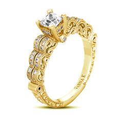 Unique Diamond Engagement Rings-18RGL463DCZ