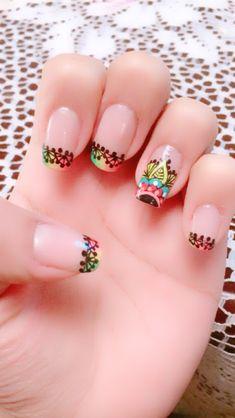 Patty Trendy Nail Art, Manicure And Pedicure, Nail Designs, Hair Beauty, Make Up, Lotus, Pretty, Nailart, Gorgeous Nails