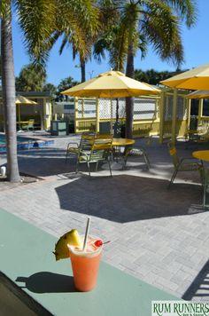 Tropical Drink Paradise  #Sirata #StPete #Beach #Florida #sun #blue #sky #clouds #fun #family #vacation #trip #relax #lunch #patio #views #hangout #ideas #drinks #rumrunner