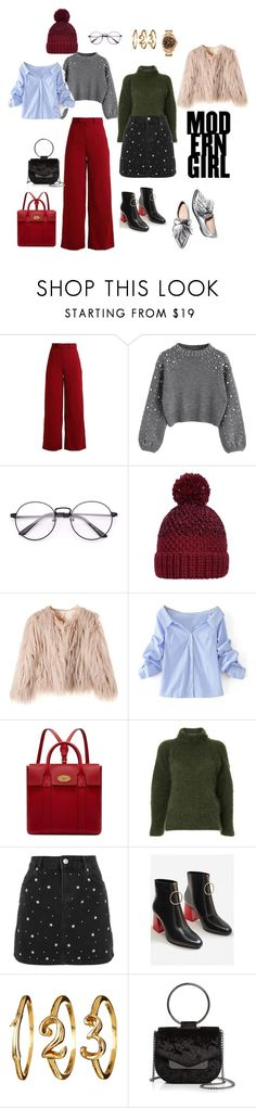 """#стильныймарафонРФ"" by kimvictoria on Polyvore featuring мода, Nanda Home, WithChic, Mulberry, Nino Babukhadia, Topshop, MANGO и Nasty Gal"