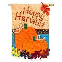 Evergreen Flag Happy Harvest House Flag - 158565BL